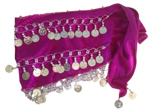 Other Bellydancing Purple Coins Hip Scarf Size XS-Small