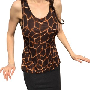 Dolce&Gabbana Dolce & Gabbana Giraffe Print Animal Print Top Brown and Black