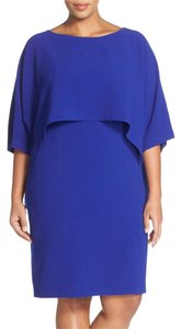 Adrianna Papell Dolman Sleeve Stretch Crepe Dress