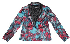 Kensie Floral Print Blue/Red/Black Blazer