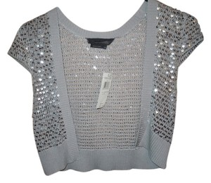 BCBGMAXAZRIA Top Platinum Gray