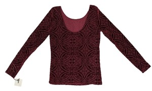Hinge Patterned Top Maroon/Red