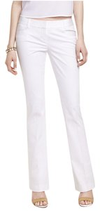 Express #boot #sateen #cotton Boot Cut Pants White
