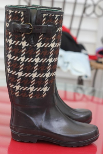 Banana Republic Brown Tweet Boots Image 1