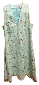 69f24ff0189 Lilly Pulitzer Sea Blue Light Blue Turquoise Sky Blue Estella Shift ...