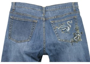 Boot Cut Jeans-Medium Wash