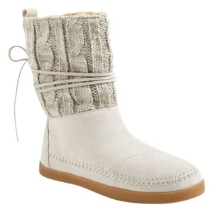 TOMS Ugg Sweater Cream/Gray Suede Boots