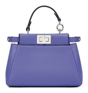 Fendi Blue Peekaboo Satchel in Purple