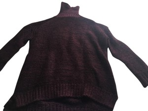 Zara Turtleneck Red Knit Sweater