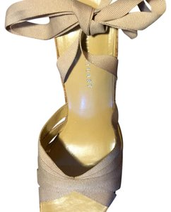 Colin Stuart Beige Wedges