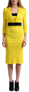 Just Cavalli short dress Bright Yellow on Tradesy