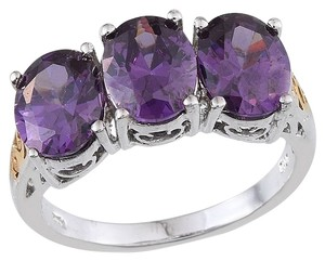 Other Simulated Amethyst in ION PTD YG and Platinum Bond Brass Size 6 with Box w Free Shipping