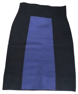 BCBGMAXAZRIA Mini Skirt Black and Blue