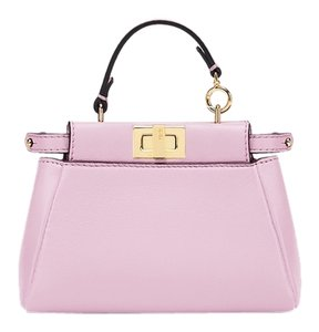 Fendi Blue Peekaboo Satchel in Lilac
