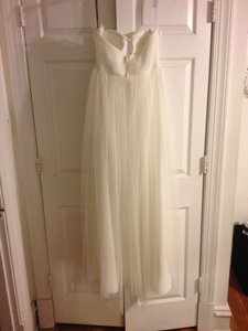 BHLDN Ivory Tulle Annabelle Formal Bridesmaid/Mob Dress Size 4 (S)