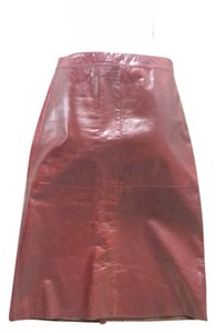 Gap Intermix Maroon Leather Chloe Maxi Skirt Oxblood