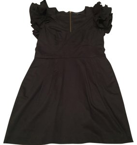 French Connection Wedding Party Statement Ruffle Shoulder Edgy Dress