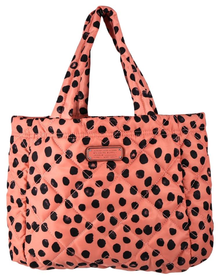 Marc by Marc Jacobs Crosby Two-tone Spotted Quilted Nylon Pink ... : marc by marc jacobs quilted tote - Adamdwight.com