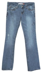 Aéropostale Distressed Boot Cut Jeans-Medium Wash