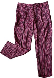 Ann Taylor LOFT Trouser Pants Black & Red