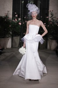 Oscar De La Renta 12n34 Peplum Wedding Dress