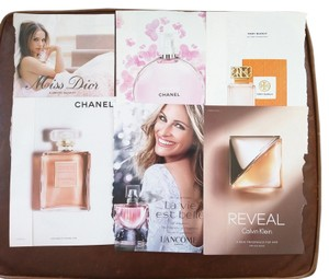 Tory Burch Pink Pack with Tory Burch, Dior, Chanel, Klein perfume paper sample