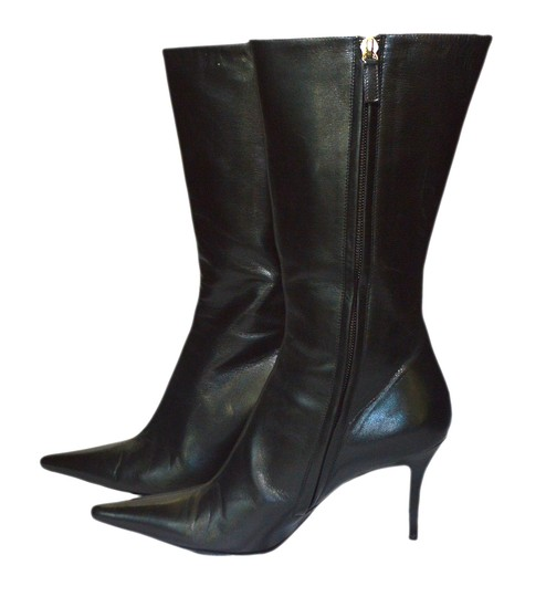 Escada black leather Boots