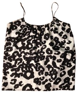 Aqua Leopard Top Black & White