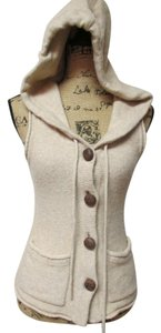 Banana Republic Leather Buttons Sweater
