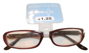 MAGNIVISION New MAGNIVISION XTRASIGHT READING GLASSES +1.25 BROWN