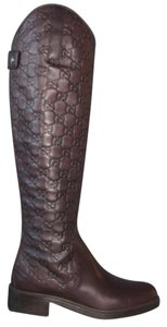 Gucci Maude Tall Knee Chocolate Boots