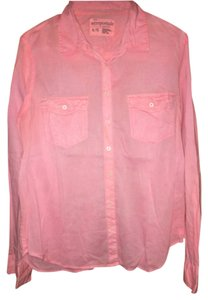 Aéropostale Button Down Shirt Coral