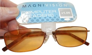 MAGNIVISION New MAGNIVISION COMPUTER READING +1.00 ORANGE AND GOLD