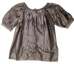 BCBGMAXAZRIA Pleated Top Metallic