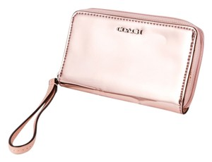 Coach * COACH 'Legacy - Mirror Metallic' Phone Wristlet in Peach