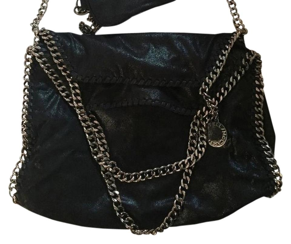 71abd6b0818a Stella McCartney Off Code- Double200 - Three Chain Fold Over Tote Black  Vegan Leather Shoulder Bag