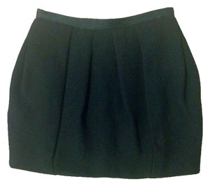 BCBG Max Azria Bubble Wool Skirt Black