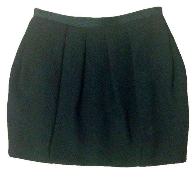 BCBGMAXAZRIA Bubble Wool Skirt Black