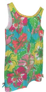 Lilly Pulitzer short dress Aqua floral on Tradesy