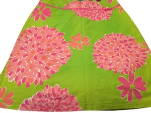 Lilly Pulitzer Skirt Green and pink