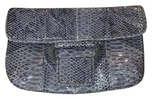 BCBGeneration Grey/ Snakeskin Print Clutch