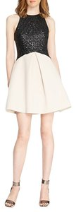 Halston Blush Sequin Heritage Neoprene Dress
