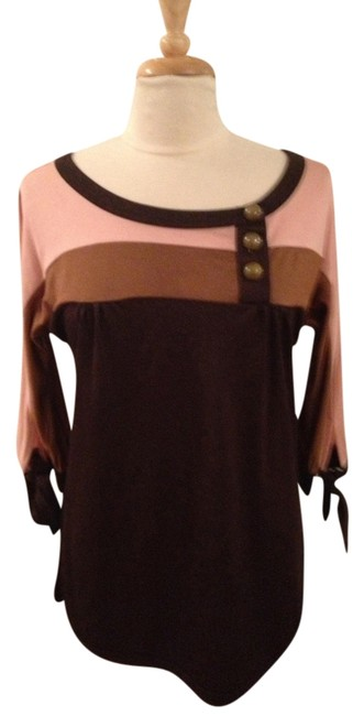 Preload https://item3.tradesy.com/images/marc-by-marc-jacobs-peachlight-browndark-brown-retro-color-block-shirt-small-tunic-size-4-s-1222692-0-0.jpg?width=400&height=650