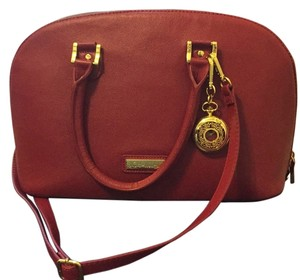 Joy & IMAN Satchel in Crimson Red