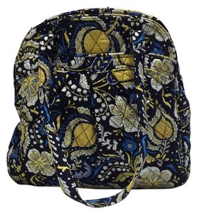 Vera Bradley Tote in Black/Blue/Yellow Print