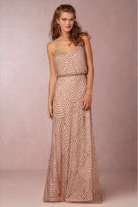 Adrianna Papell Taupe/Pink Obreanna 36317782 Formal Bridesmaid/Mob Dress Size 4 (S)