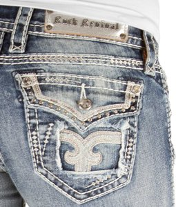 Rock Revival The Buckle Bling Straight Leg Jeans-Light Wash