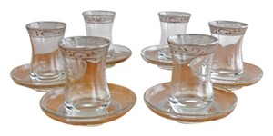 Other NEW in Box Tea Chai Set for Six with 24 Karat White Gold Trim