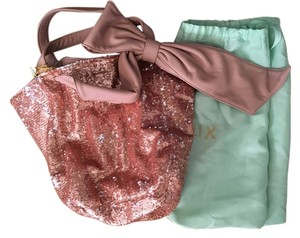 deux lux Bow Sequin Shoulder Bag