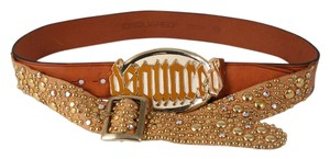 Dsquared2 Dsquared2 Studded/Rhinestone Leather Belt - Medium